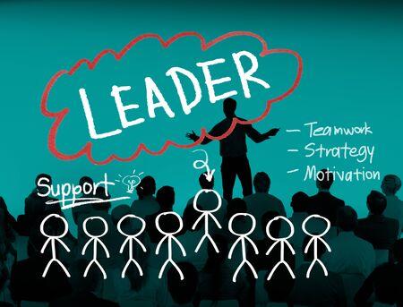 liderazgo: Leader Leadership Management Responsibility Vision Concept