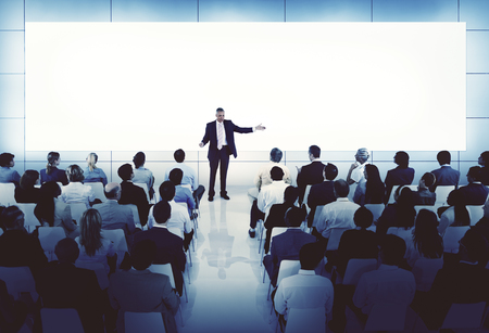 speaker: Coaching Mentoring Seminar Meeting Conference Business Concept Stock Photo