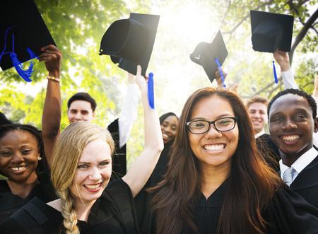 high school: Graduation Student Commencement University Degree Concept