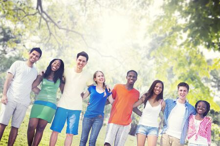 huddle: Diversity Friends Friendship Teamwork Huddle Concept