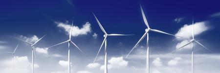 rural development: Environmental Conservation Windmill Outdoors Green Concept Stock Photo