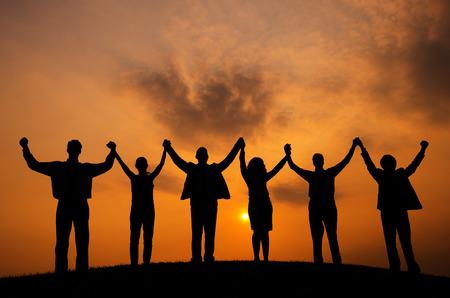 Business People Togetherness Coporate Team Unity Concept Standard-Bild