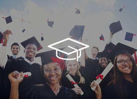 mortar board: Mortar Board Education Knowledge Wisdom Graduation Concept Stock Photo