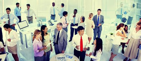 white work: Business People Corporate Communication Office Team Concept Stock Photo