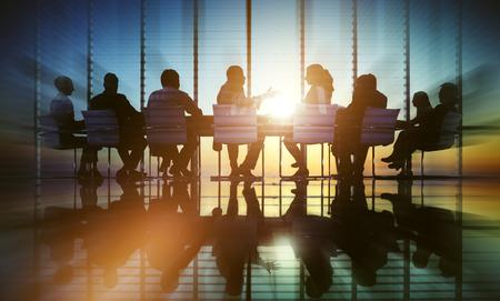 Réunion Les gens d'affaires Bureau professionnel Discussion Concept