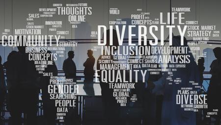 Diverse Equality Gender Innovation Management Concept Banco de Imagens
