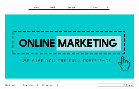 commerce: Online Marketing Commerce Global Business Strategy Concept