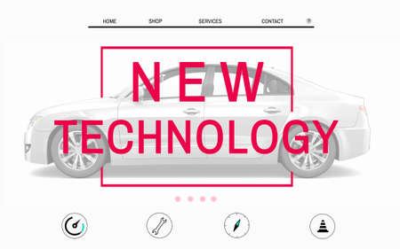 advertising design: Car Website Homepage Layout Advertising Concept