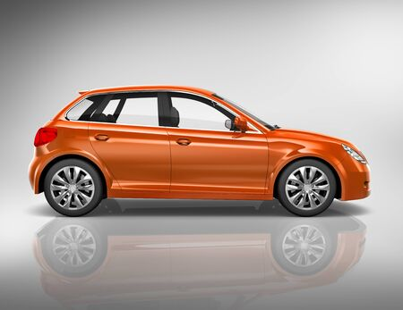 new generation: Car Vehicle Transportation 3D Illustration Concept