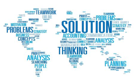 new solution: Solution Solve Problem Strategy Vision Decision Concept