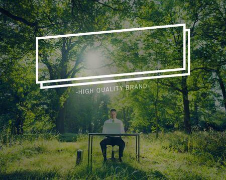genuine good: High Quality Brand Good Advertising Marketing Concept