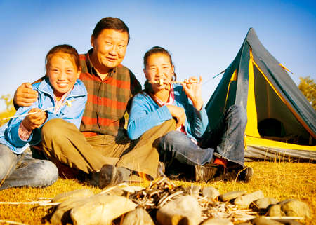 independent mongolia: Asian Family Ethnicity Culture Enjoyment Independent Concept Stock Photo