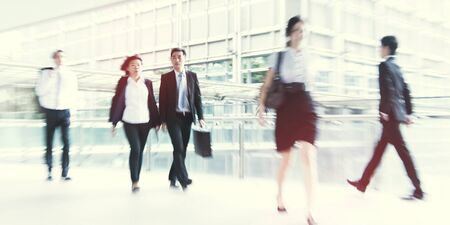 People commuting in Hong Kong Pedestrain Concept Stock Photo