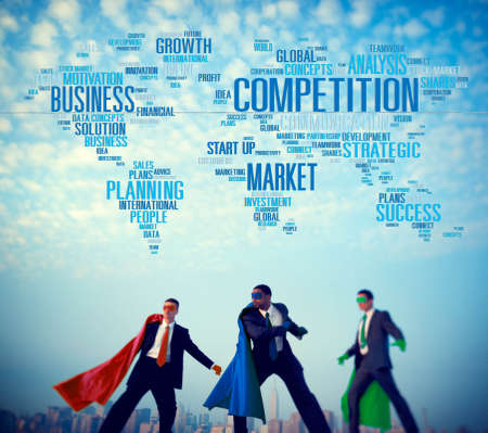 business competition: Global Competition Business Marketing Planning Concept Stock Photo