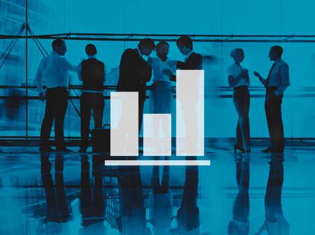 urban planning: Business Bar Graph Progress Report Concept
