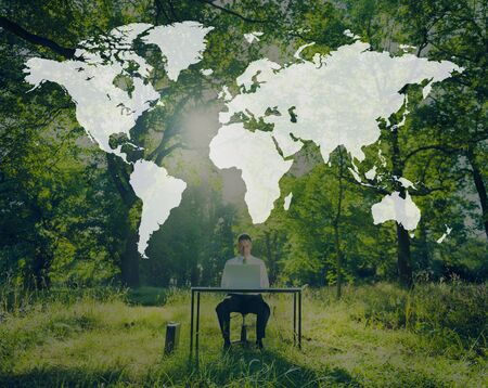 internet globe: World Global Cartography Globalization Earth International Concept