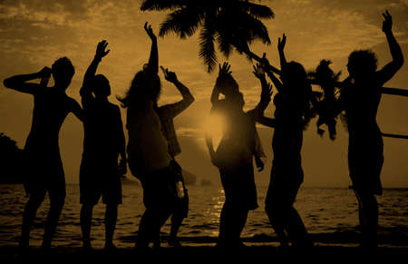 enjoyment: Beach Summer Party Enjoyment Happiness Youth Culture Concept