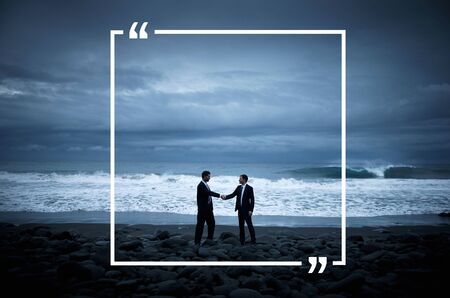 quotation: Quotation Marks Frame Message Copy Space Concept Stock Photo