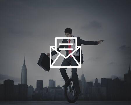 glum: Email Message Icon Communication Letter Concept