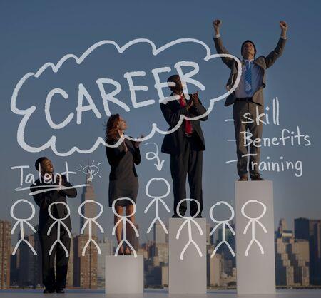 applauding: Careers Employment Job Recruitment Occupation Concept