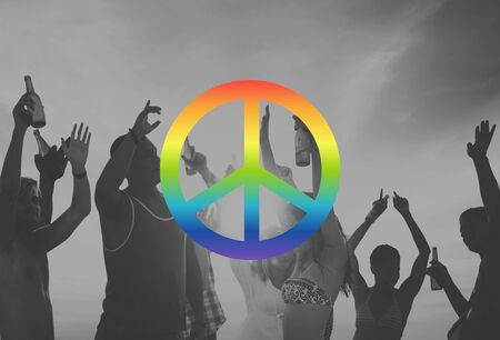 peaceful: Peaceful Liberty Protest Symbol Gradient Concept