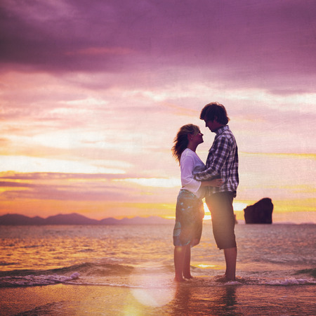 Couple Love Beach Romance Togetherness Concept Imagens