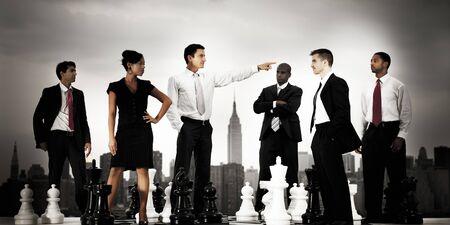 confrontation: Business People Chess Arguement Confrontation Concept Stock Photo