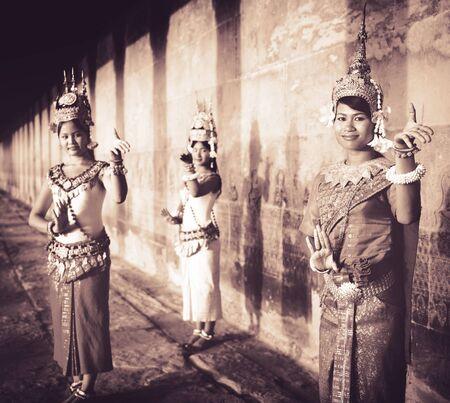 カンボジアの伝統文化アプサラ女性 Tanquil コンセプト