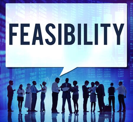 reasonable: Feasibility Possibility Possible Potential Ideas Concept Stock Photo