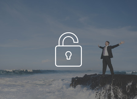 unlocked: Unlock Freedeom Free Liberate Unlocked Concept Stock Photo