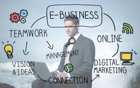 solitude: E-Business Ideas Analysis Communication Solution Social Concept