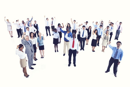 expressing: Celebrating Cheerful Expressing Partnership Team Concept
