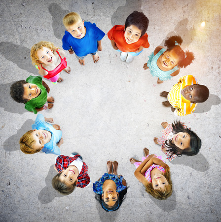 innocence: Children Circle Friendship Innocence Preschooler Concept