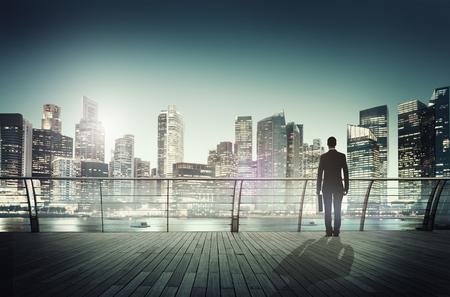 urban scene: Businessman Corporate Cityscape Urban Scene City Building Concept