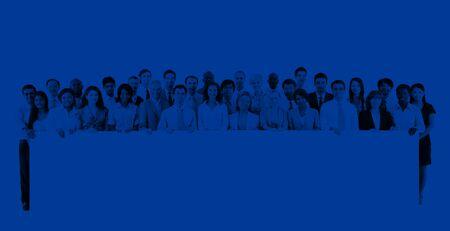 organised group: Collaboration Banner Placard Partnership Teamwork Concept
