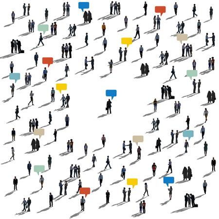 Business people with speech bubbles Banco de Imagens