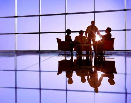iluminado a contraluz: Business Team Discussion Meeting Communication Concept Foto de archivo