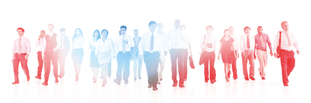 large group of business people: Large Group of Business People Walking Concept