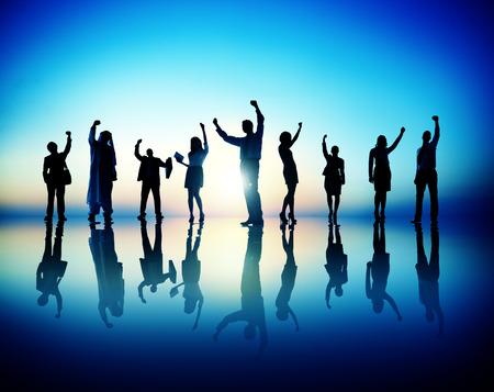 succesful: Business Corporate People  Succesful Celebration Concept Stock Photo