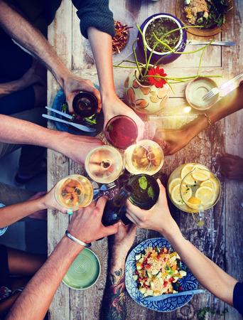 högtider: Mat Tabell Friska Läcker ekologisk måltid Koncept