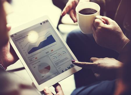 Business Team Brainstorming Data Target Financial Cocnept Archivio Fotografico