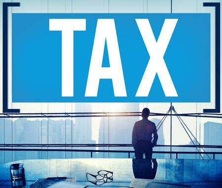 finance concept: Tax Taxing Taxation Taxable Taxpayer Finance Concept Stock Photo