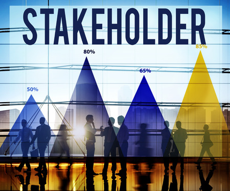 Stakeholder Corporate Deal Holding Partner Concept Stock Photo