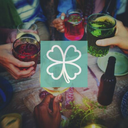 irish culture: Clover Leaf Saint Patricks Day Ireland Lucky Irish Culture Concept Stock Photo