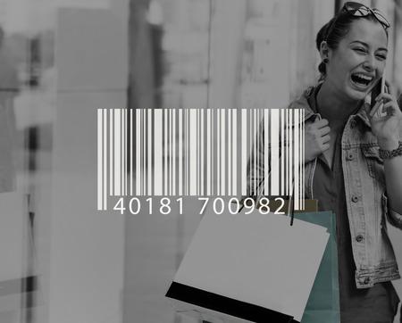Bar Code Scanning Inventory Logistics Production Concept Banco de Imagens