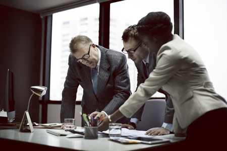 team leader: Business Team Meeting Discussion Connection Concept Stock Photo