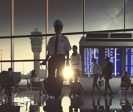 airport terminal: Business People Airport Terminal Travel Departure Concept