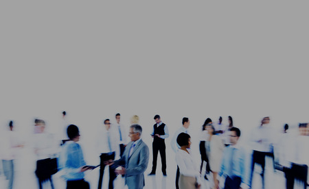 blurred motion: Group Business People Working Blurred Motion Indoors Concept