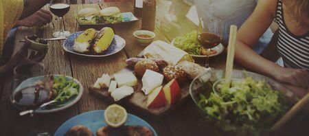 dinner party: Beach Cheers Celebration Friendship Summer Fun Dinner Concept