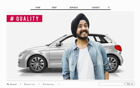 Vehicle ambassador concept Stock Photo